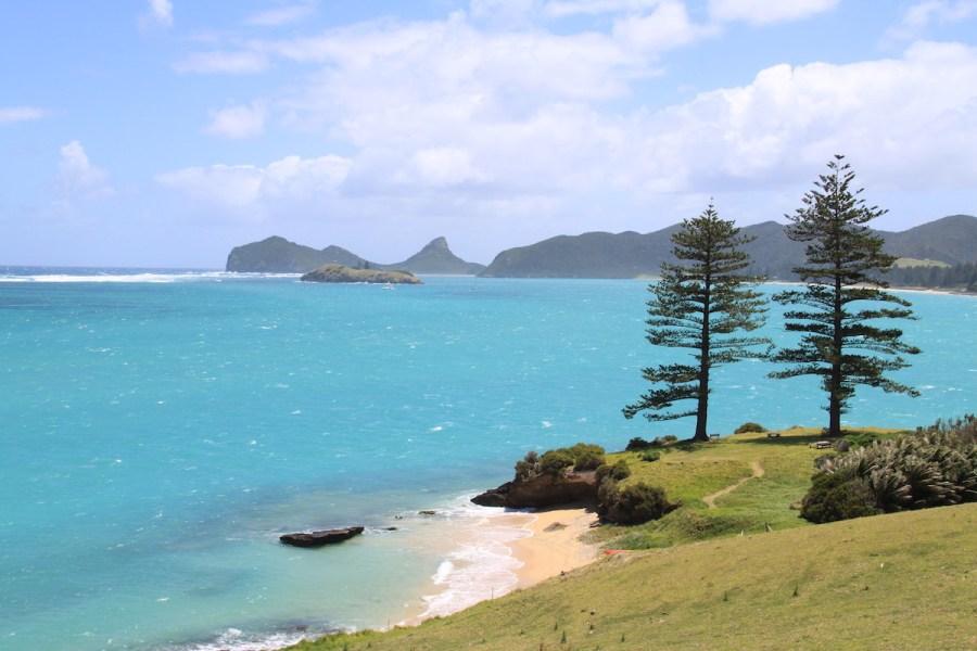 The beautiful blue lagoon of Lord Howe Island