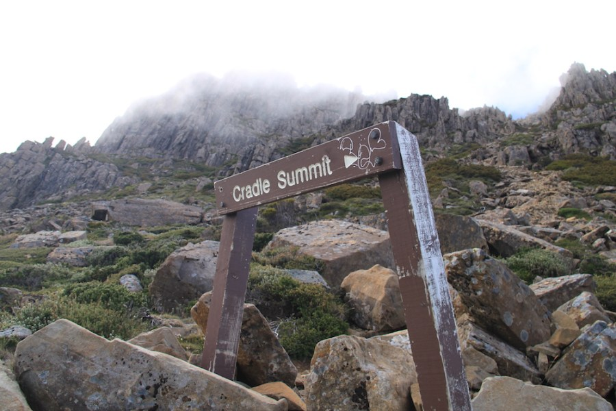 Sign for the summit