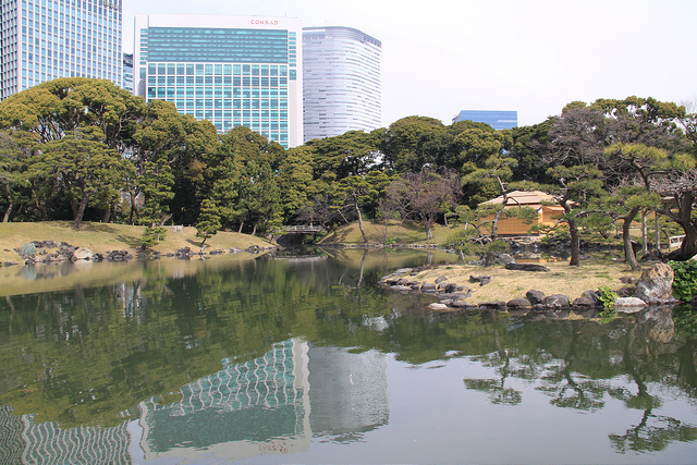 The beautiful Hama-Rikyu gardens