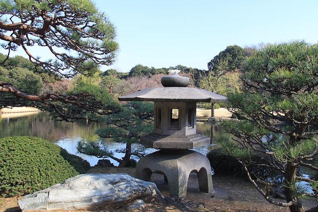 Traditional Japanese gardens of Shinjuku Gyoen