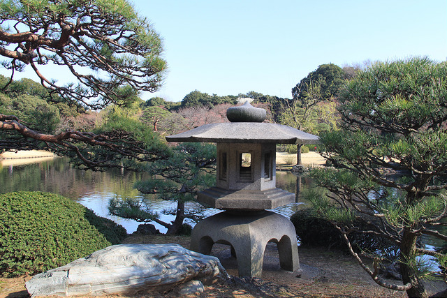 Traditional Japanese gardens of Shinjuku Gyoen