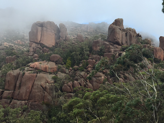 View of the Granite boulders from the lookout