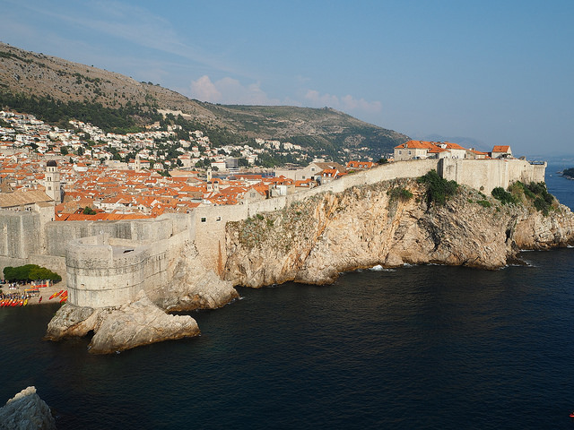 View of the old town from Fort Lovrijenac
