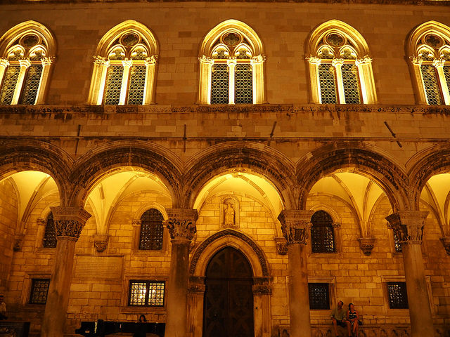 The Rector Palace at night