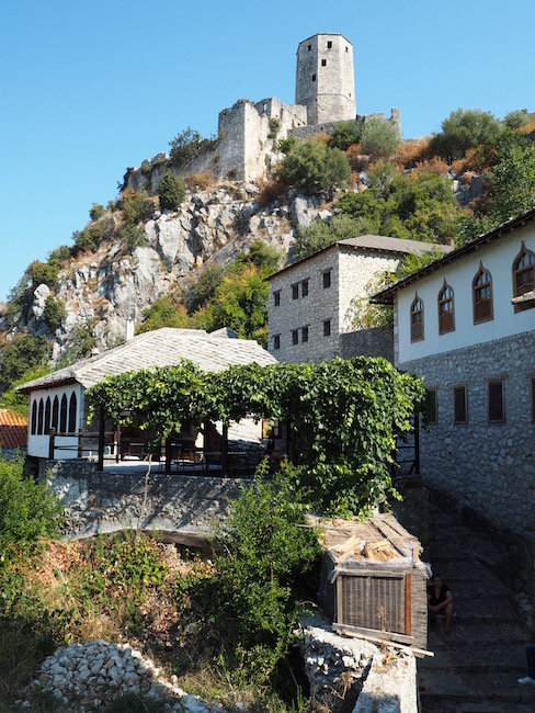 Pocitelj's fort at the top of the hill