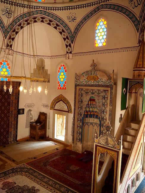 Inside Mostar's mosque