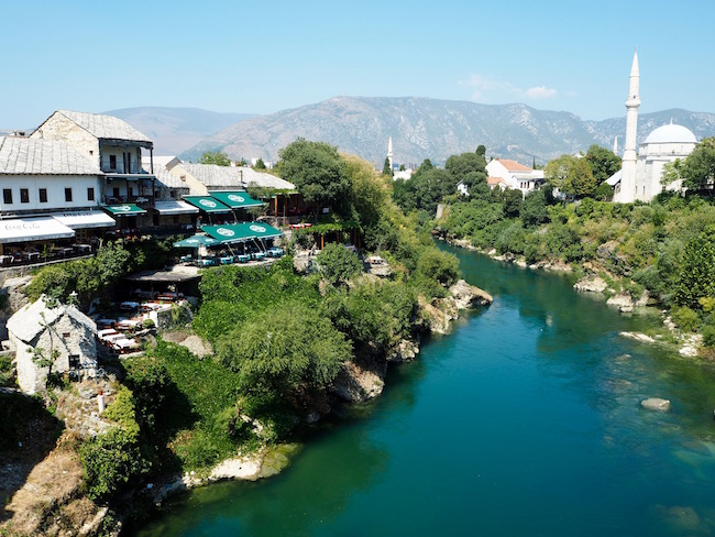 View from Mostar's old bridge