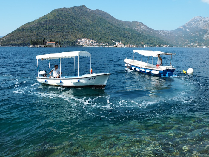 The Perast's taxi boats