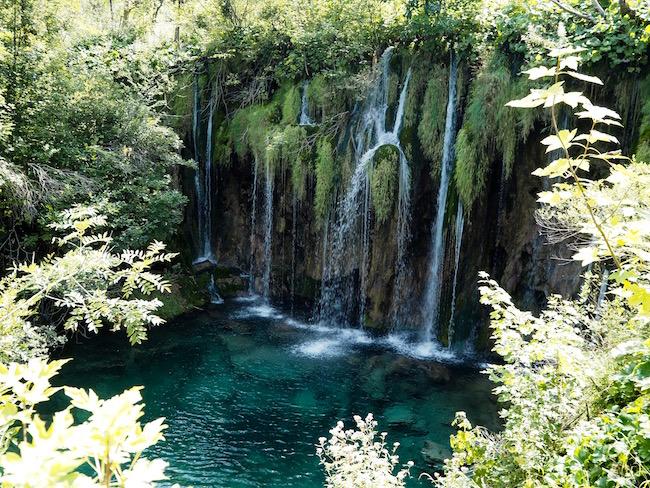 Upper lake waterfalls