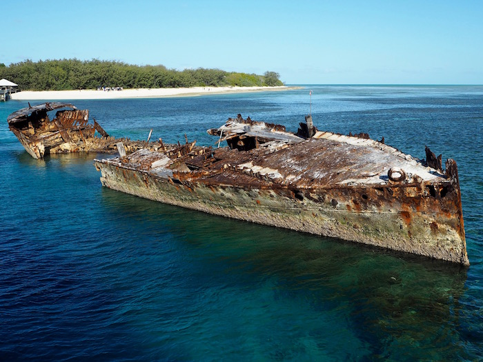 The HMAS Protector shipwreck just off the island.