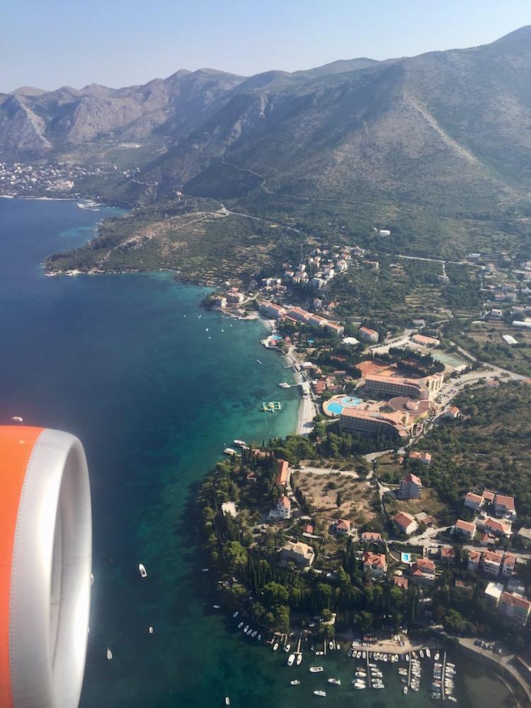 View of Dubrovnik at landing!