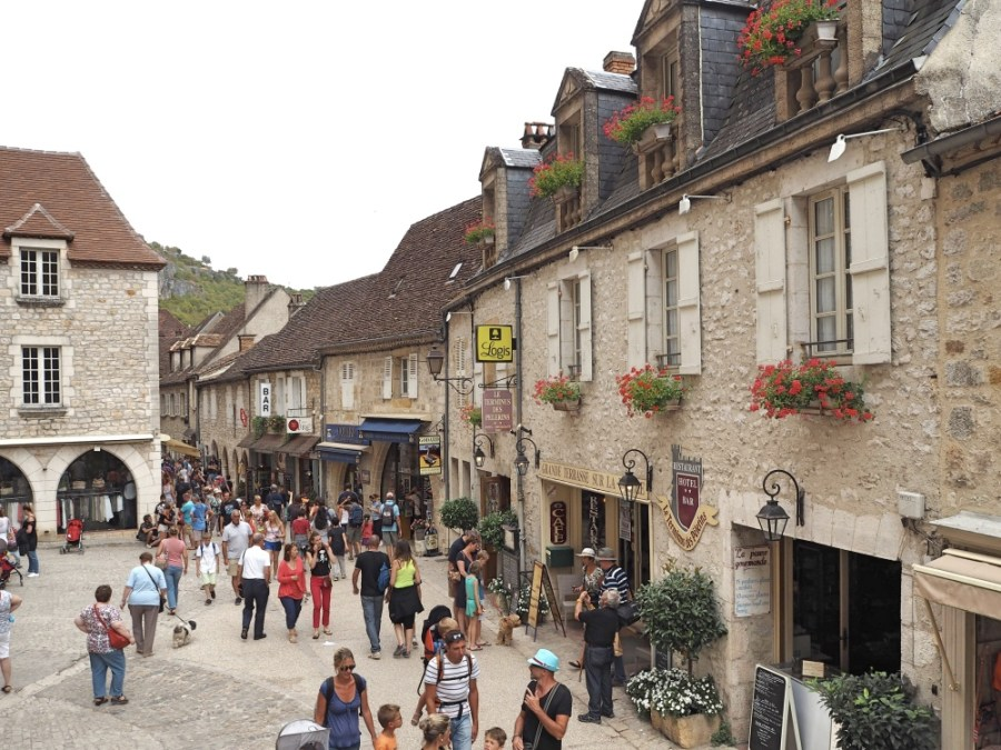 The main square of Rocamadour