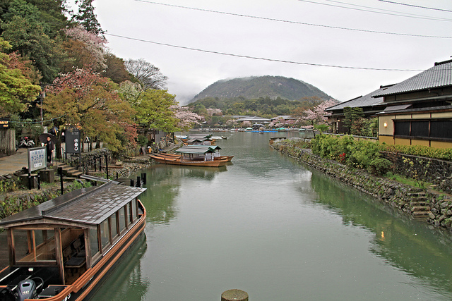 The river in Arashiyama.