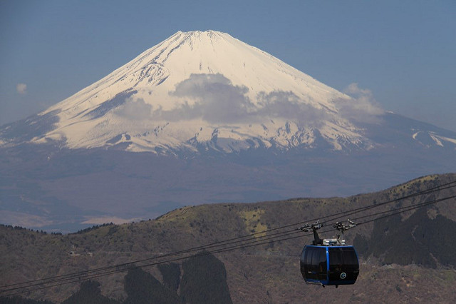 The Hakone ropeway.