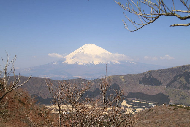 View of Mt Fuji from Owakudani