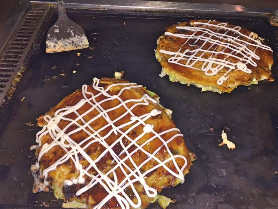 Our delicious Okonomiyaki.