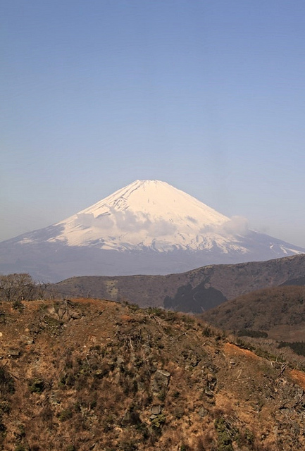 View of Mt Fuji from the ropeway.