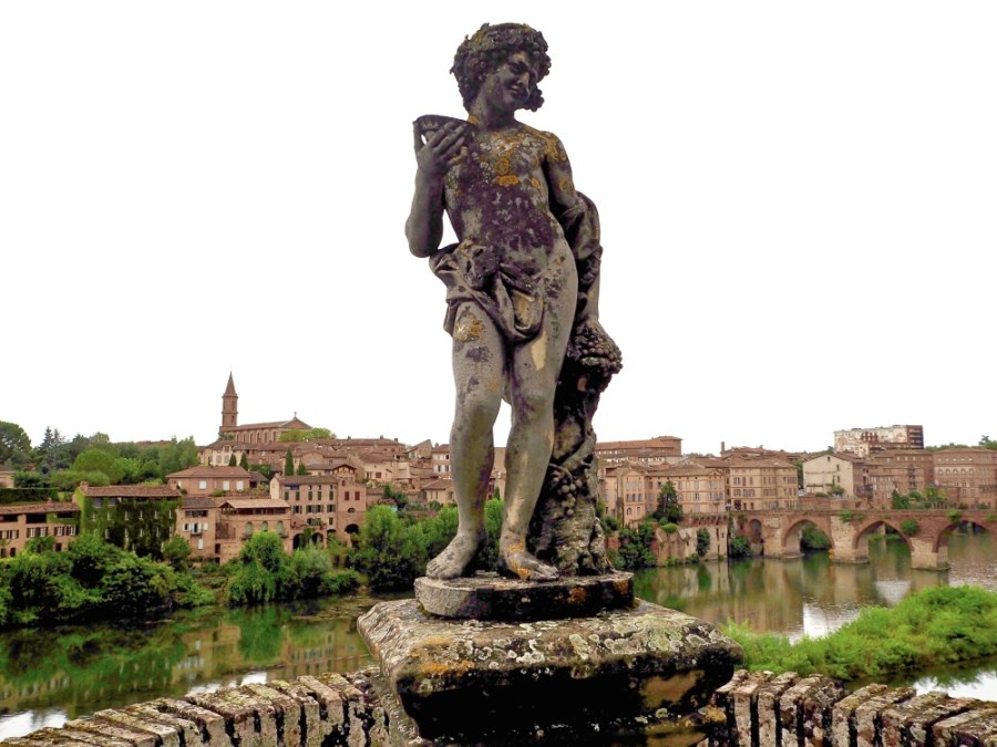 Statue in the garden.