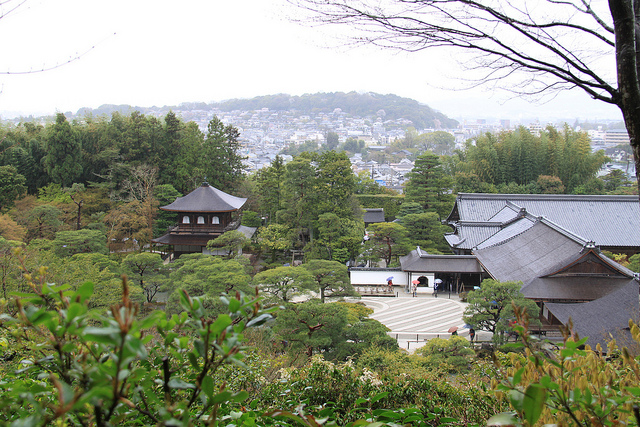 The view over Kyoto from the Silver Pavilion.