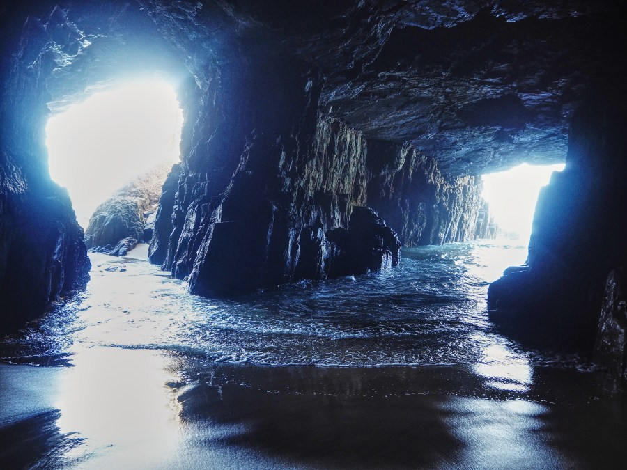 Inside the remarkable cave.