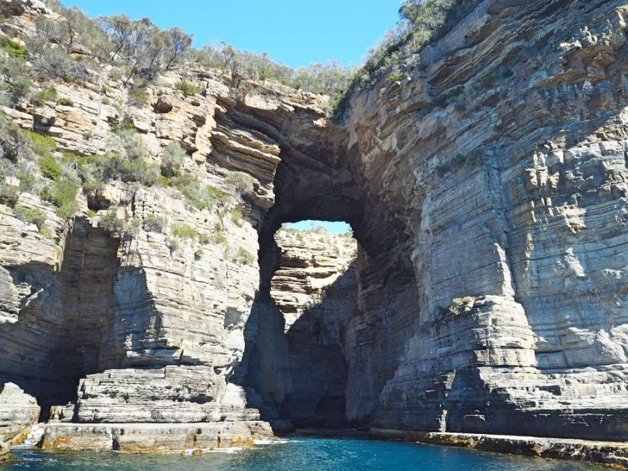 View of the Tasman Arch from the cruise.