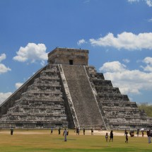 The famous Chichen Itza Archaelogical site.