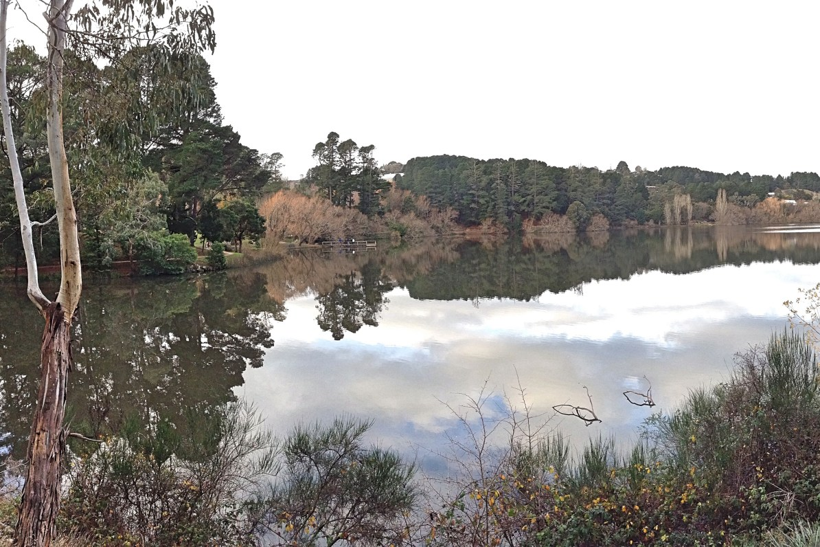 Lake Daylesford in Autumn.