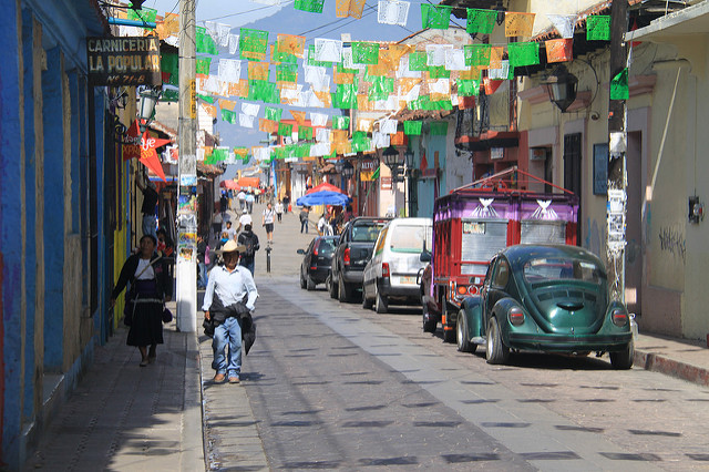 Walking the streets of San Cristobal.