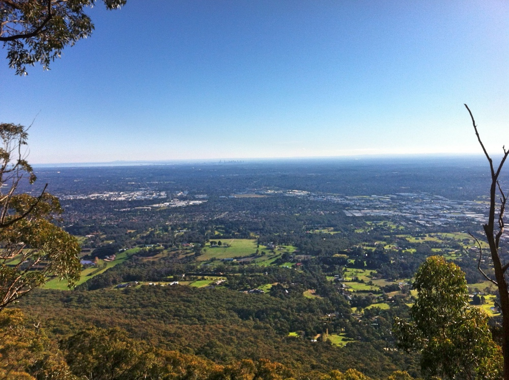 The view from Mt Dandenong.