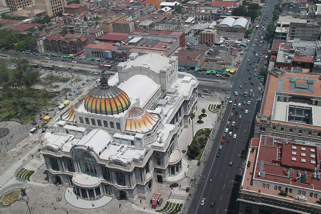 View over the Palacio de Bella Artes from the Torre Latinoamericana.