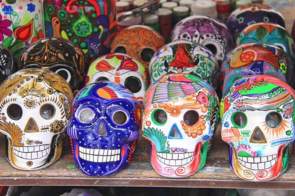 Skulls decorations for Day of the Dead