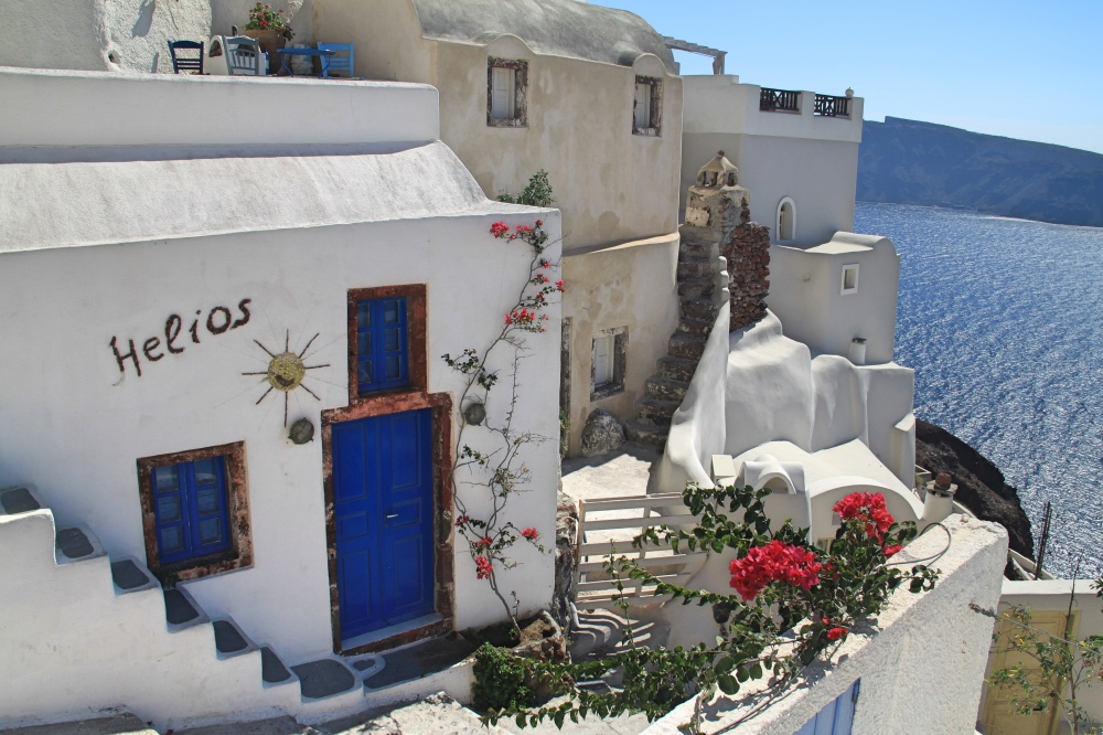 A typical Santorini house.