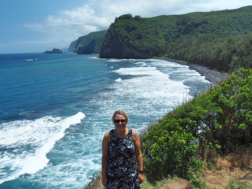 The stunning view from the hike down the Pololu Valley.