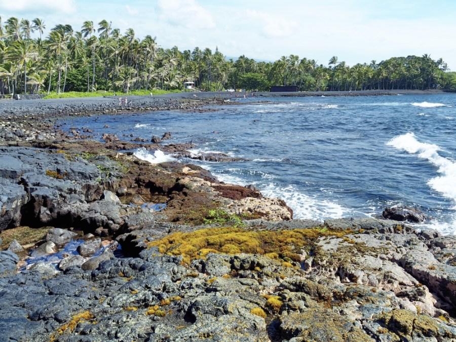 The coastal views at Punalu'u.