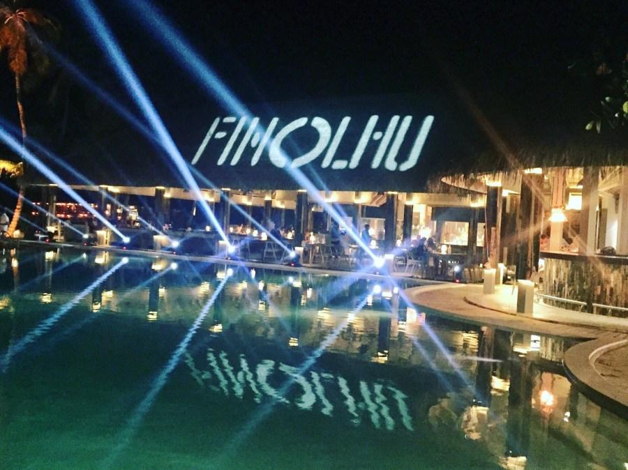 Night shot of the Baa Baa Beach Club.