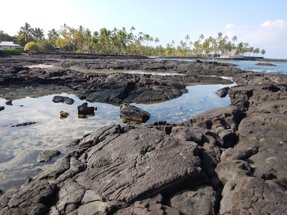 Volcanic rocks can be seen all over the island.