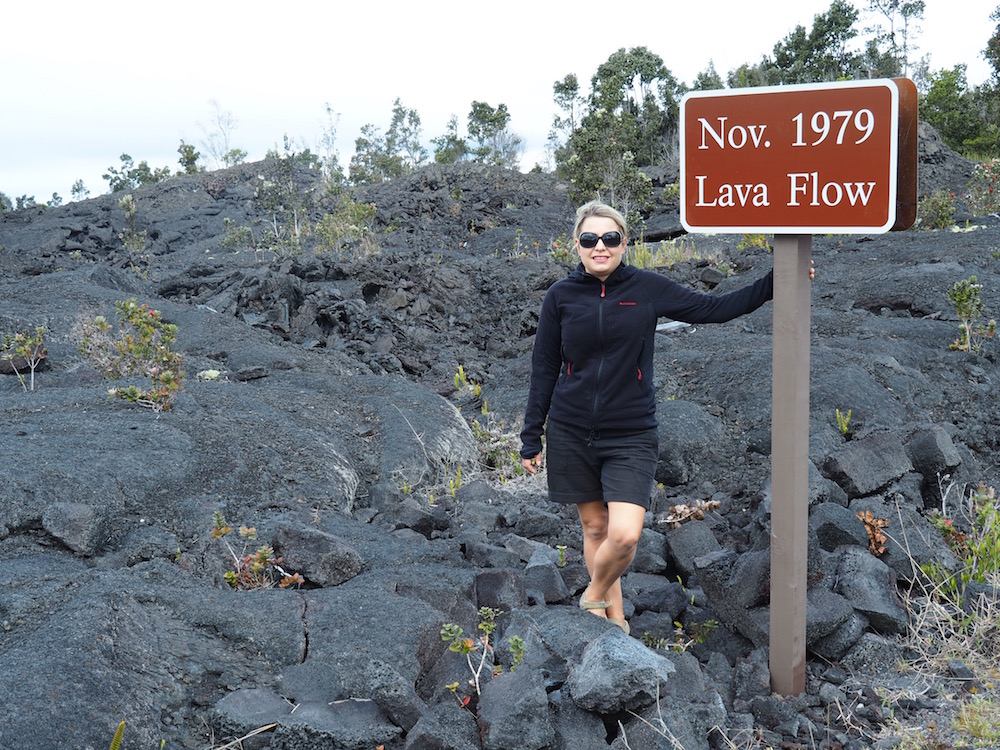 Old lava from the month I was born!