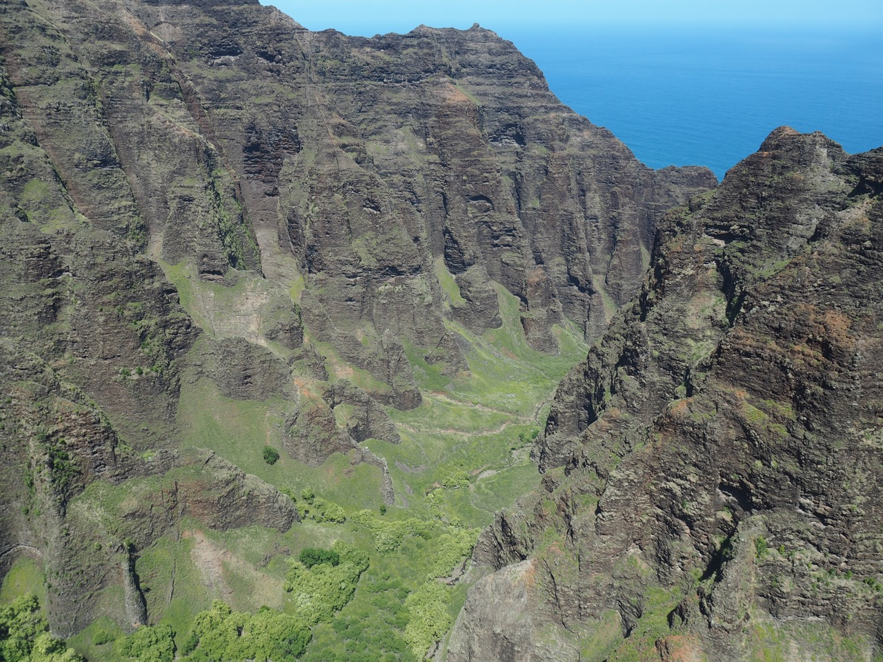 The Na Pali Coast.