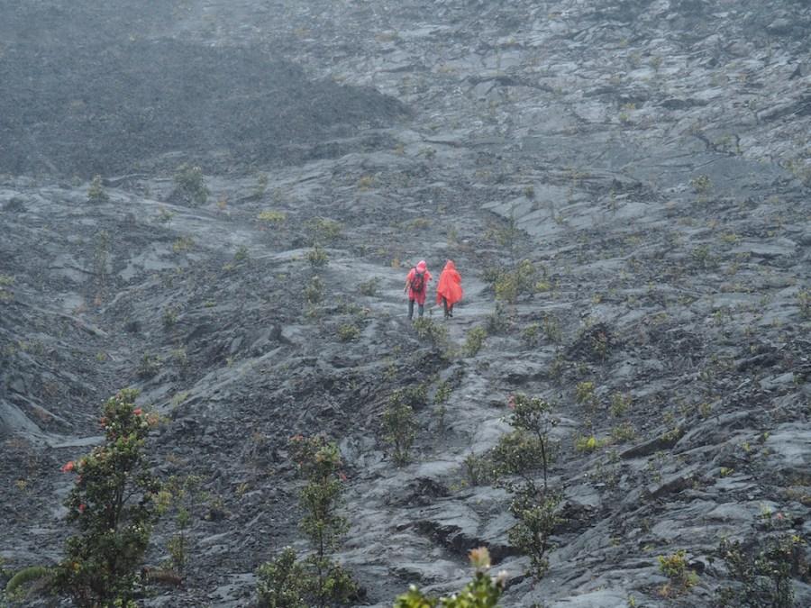 A very wet hike through a lava lake!