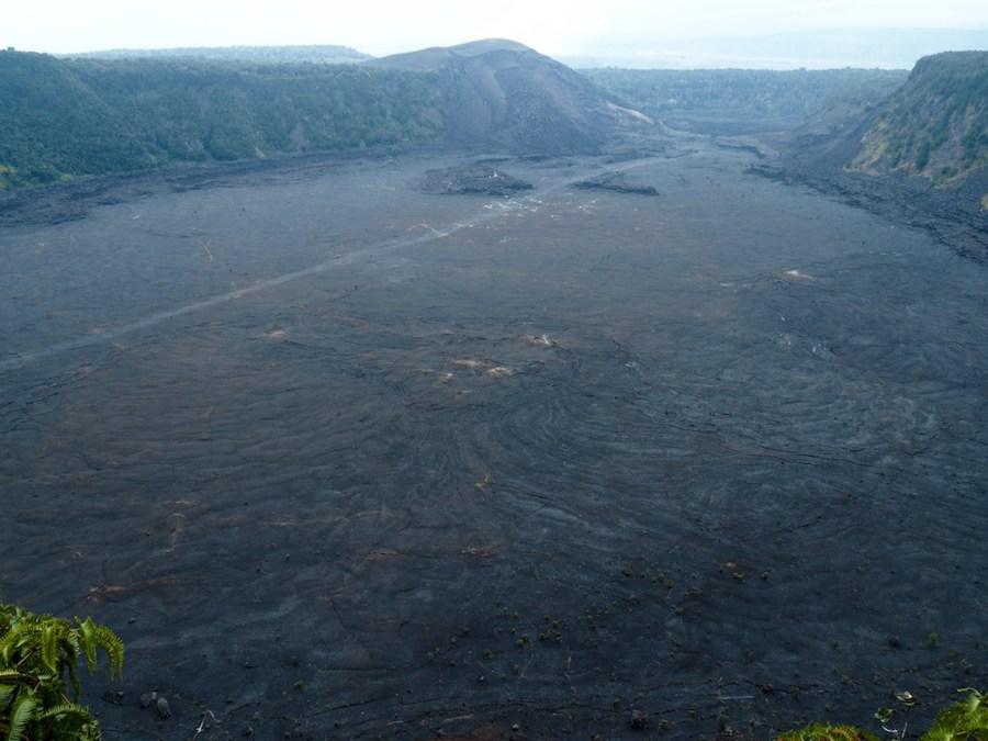 The Kīlauea Iki crater.