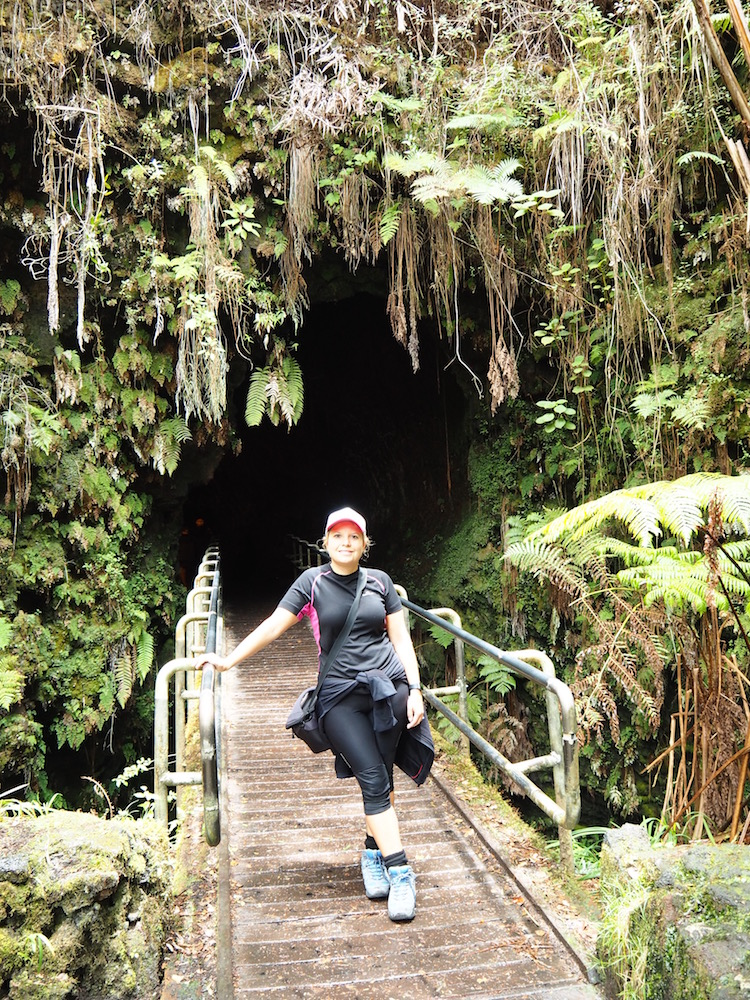 The entrance to the lava tube.