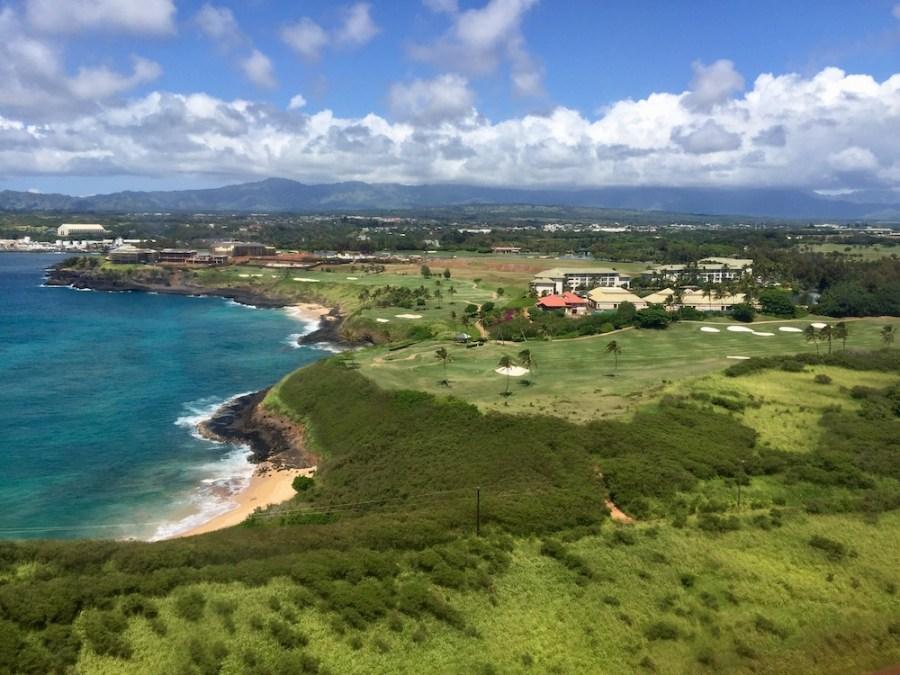 Landing on beautiful Kauai.