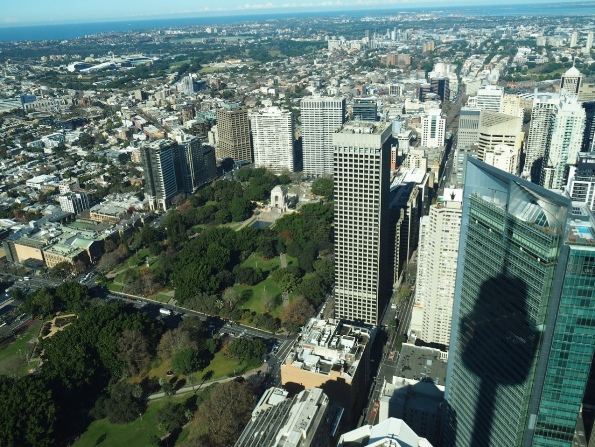 View of Hyde Park from the Sydney Tower.