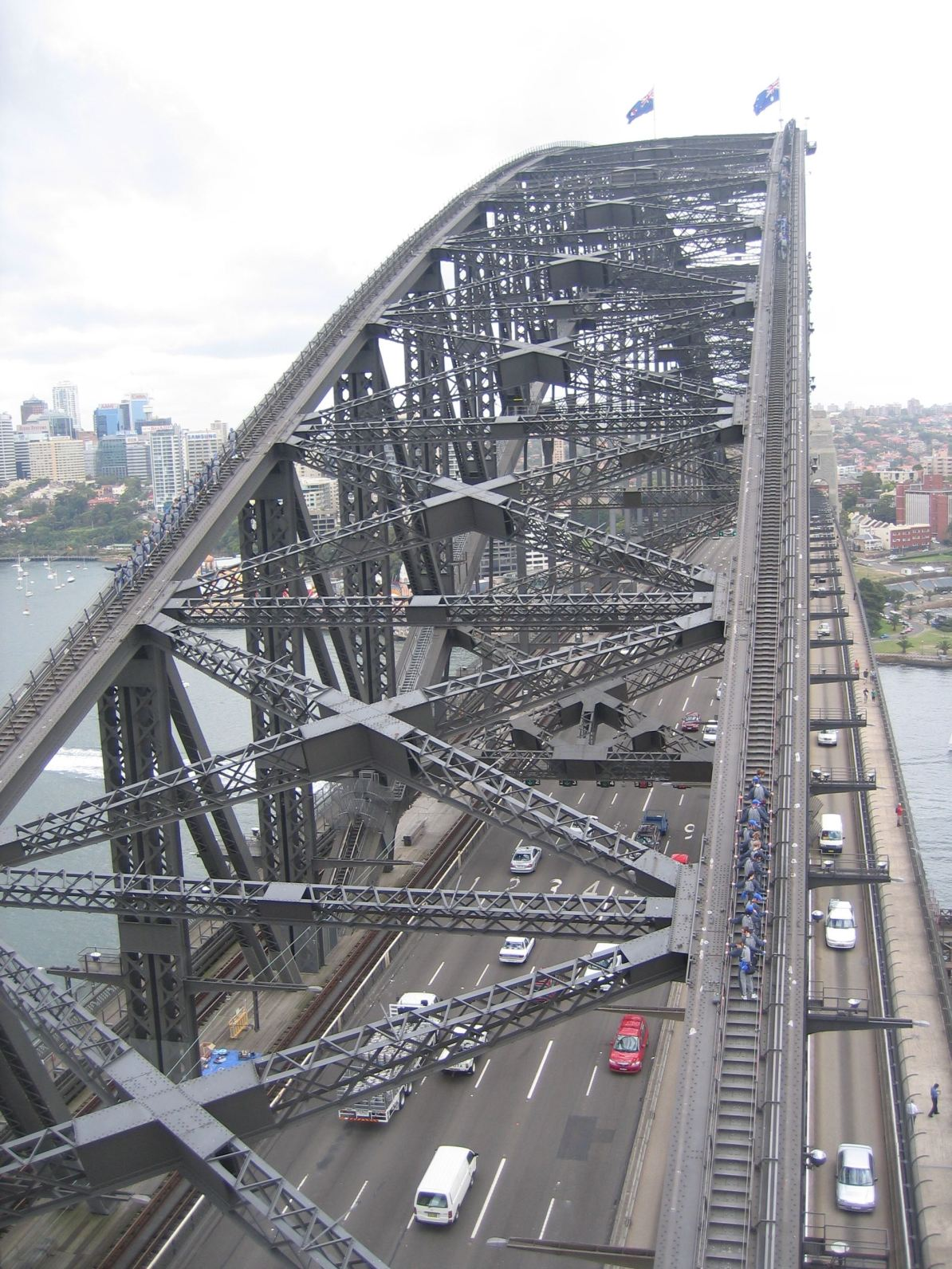 The climb to the top of the iconic Harbour Bridge.