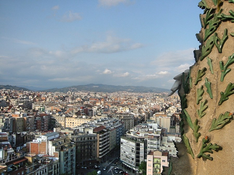 View over the city from the Sagrada Familia.