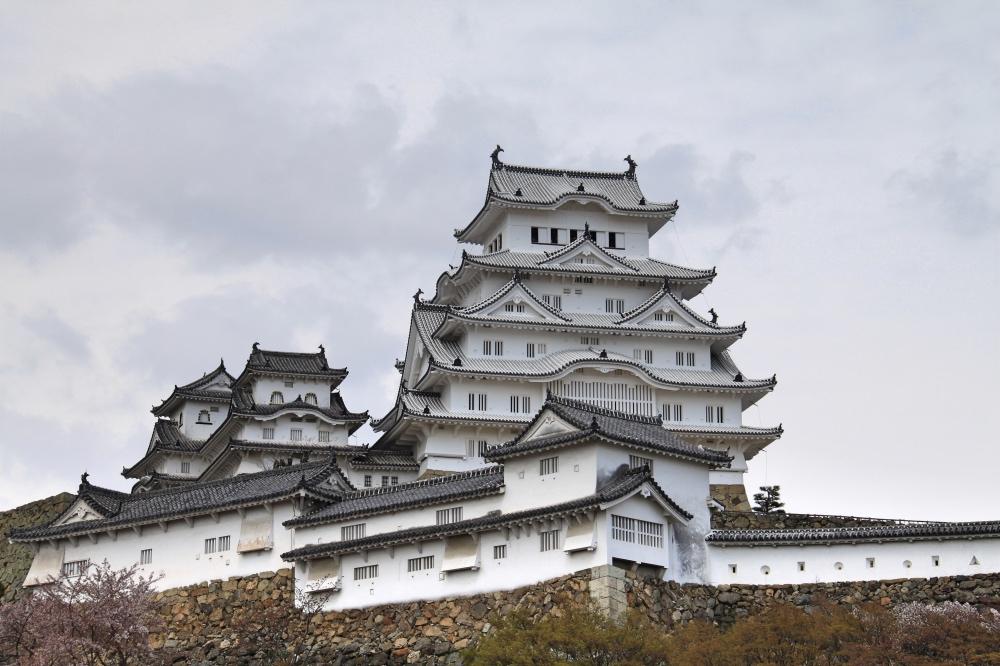 The newly renovated Himeji castle.