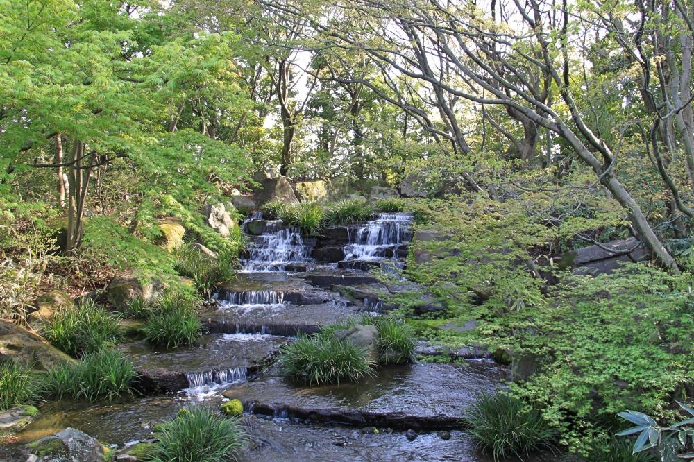 A stream in the Kokoen Garden.