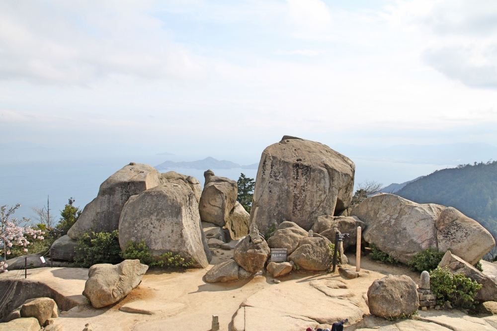 The top of Mt Misen.