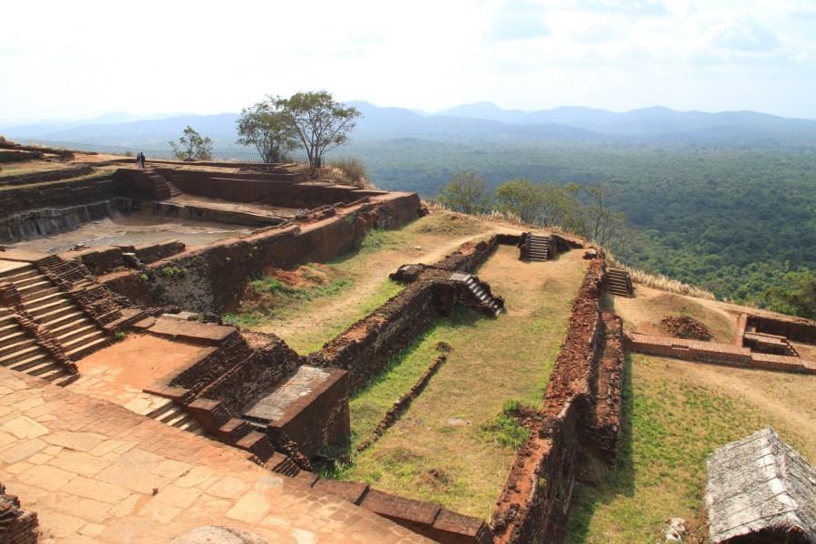 Ruins at the top.