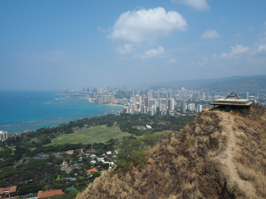 Beautiful view over Waikiki and Honolulu